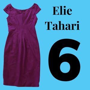 Sz 6 Elie Tahari Purple Dress